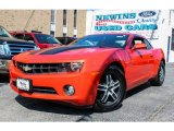 2010 Inferno Orange Metallic Chevrolet Camaro LT Coupe #82673168