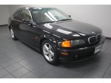 2001 Jet Black BMW 3 Series 325i Coupe #82673049