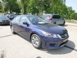2013 Obsidian Blue Pearl Honda Accord LX Sedan #82673123