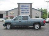 2009 Blue Granite Metallic Chevrolet Silverado 1500 LT Crew Cab 4x4 #82732565