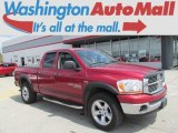 2006 Inferno Red Crystal Pearl Dodge Ram 1500 Big Horn Edition Quad Cab 4x4 #82731909