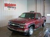 2006 Sport Red Metallic Chevrolet Silverado 1500 Z71 Extended Cab 4x4 #82732545