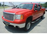 2007 Fire Red GMC Sierra 2500HD SLE Crew Cab 4x4 #82732322