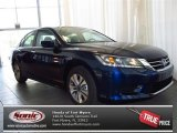 2013 Obsidian Blue Pearl Honda Accord LX Sedan #82731765