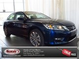 2013 Obsidian Blue Pearl Honda Accord Sport Sedan #82731763
