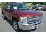 2013 Deep Ruby Metallic Chevrolet Silverado 1500 LS Regular Cab #82732306