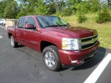 2009 Deep Ruby Red Metallic Chevrolet Silverado 1500 LTZ Crew Cab 4x4 #82732487