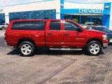 2007 Inferno Red Crystal Pearl Dodge Ram 1500 Big Horn Edition Quad Cab 4x4 #82790409