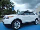 2014 Ford Explorer White Platinum