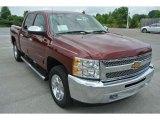 2013 Deep Ruby Metallic Chevrolet Silverado 1500 LT Crew Cab 4x4 #82790970