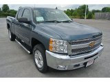 2013 Blue Granite Metallic Chevrolet Silverado 1500 LT Extended Cab 4x4 #82790964