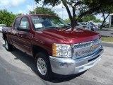 2013 Deep Ruby Metallic Chevrolet Silverado 1500 LT Extended Cab #82846698
