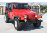 2006 Flame Red Jeep Wrangler Rubicon 4x4 #82846574