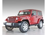 Deep Cherry Red Crystal Pearl Jeep Wrangler in 2012