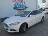 2013 White Platinum Metallic Tri-coat Ford Fusion Hybrid Titanium #82895681