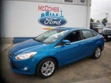2012 Blue Candy Metallic Ford Focus SEL Sedan #82921899