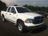 2005 Bright White Dodge Ram 1500 SLT Quad Cab 4x4 #82921920