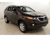 2011 Dark Cherry Kia Sorento LX AWD #82925364