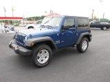 2010 Deep Water Blue Pearl Jeep Wrangler Sport 4x4 #82925348