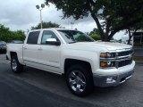 2014 White Diamond Tricoat Chevrolet Silverado 1500 LTZ Crew Cab 4x4 #82970310