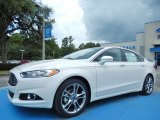 2013 White Platinum Metallic Tri-coat Ford Fusion Titanium #82969684