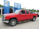 2007 Victory Red Chevrolet Silverado 1500 Classic LS Extended Cab 4x4 #82969675