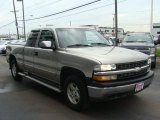 1999 Light Pewter Metallic Chevrolet Silverado 1500 LS Extended Cab 4x4 #83017193