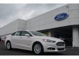 2013 White Platinum Metallic Tri-coat Ford Fusion Hybrid SE #83017235