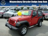 2011 Flame Red Jeep Wrangler Sport 4x4 #83017321