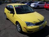 2005 Egg Yolk Yellow Ford Focus ZX3 S Coupe #8304404