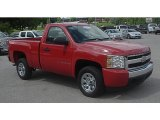 2008 Victory Red Chevrolet Silverado 1500 LS Regular Cab #83102876