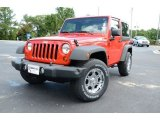 2012 Flame Red Jeep Wrangler Sport 4x4 #83141118