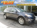 2013 Atlantis Blue Metallic Chevrolet Traverse LT AWD #83140925