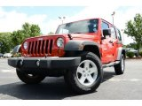 2012 Flame Red Jeep Wrangler Unlimited Sport 4x4 #83141119