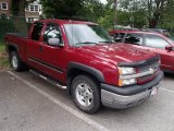 2005 Sport Red Metallic Chevrolet Silverado 1500 Z71 Extended Cab 4x4 #83162212