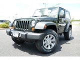 2012 Black Forest Green Pearl Jeep Wrangler Sport 4x4 #83162194