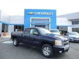 2008 Dark Blue Metallic Chevrolet Silverado 1500 LT Extended Cab 4x4 #83169855