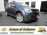 2013 Atlantis Blue Metallic Chevrolet Equinox LS #83169901