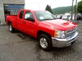 2013 Victory Red Chevrolet Silverado 1500 LT Extended Cab 4x4 #83169745