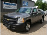 2007 Graystone Metallic Chevrolet Silverado 1500 Work Truck Regular Cab #83169875