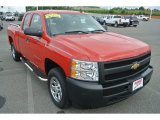 2009 Victory Red Chevrolet Silverado 1500 Extended Cab #83206404