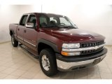 2002 Dark Carmine Red Metallic Chevrolet Silverado 1500 LS Crew Cab #83206384