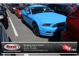 2013 Grabber Blue Ford Mustang GT Premium Coupe #83205730