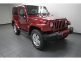 2012 Deep Cherry Red Crystal Pearl Jeep Wrangler Sahara 4x4 #83263512