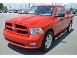 2012 Flame Red Dodge Ram 1500 ST Quad Cab 4x4 #83263688