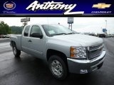 2013 Silver Ice Metallic Chevrolet Silverado 1500 LT Extended Cab 4x4 #83263770