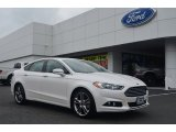 2013 White Platinum Metallic Tri-coat Ford Fusion Titanium AWD #83316540