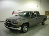 2006 Graystone Metallic Chevrolet Silverado 1500 Work Truck Extended Cab #810355