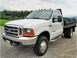 1999 Oxford White Ford F350 Super Duty XL Regular Cab 4x4 Chassis #83316814