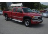 2005 Fire Red GMC Sierra 2500HD SLE Extended Cab 4x4 #83316810